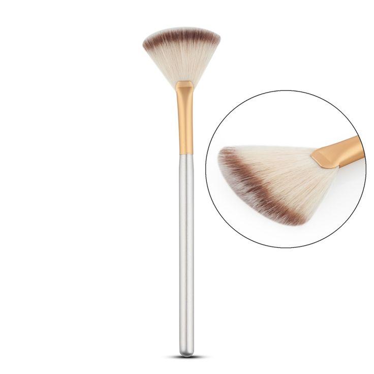 Trucco Sottile Forma a Ventaglio pennello per Fondazione Concealor Highlighter Evidenziazione Contour Blending Brush Cosmetic attrezzo di bellezza