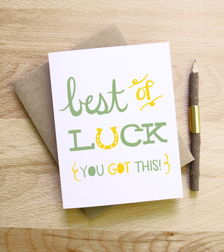 71 best Greeting Cards images on Pinterest Greeting cards, Card - good luck card template