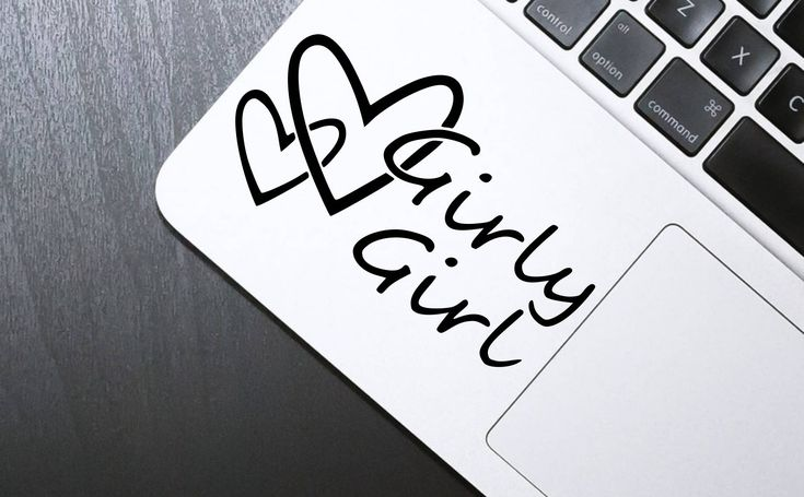 Decal, Laptop decal, sticker, phone sticker, Girly girl, Stickers for girls, Laptop vinyl sticker, by SexyandMotivated on Etsy