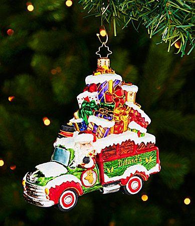Christopher Radko Vintage Dillards Truck Ornament #Dillards