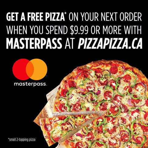 Pizza Pizza Canada Promotions: FREE Small Pizza when you Spend $9.99 with MasterPass! http://www.lavahotdeals.com/ca/cheap/pizza-pizza-canada-promotions-free-small-pizza-spend/128909
