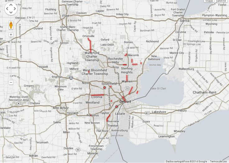 Map Of Metro Detroit  Maps  Pinterest