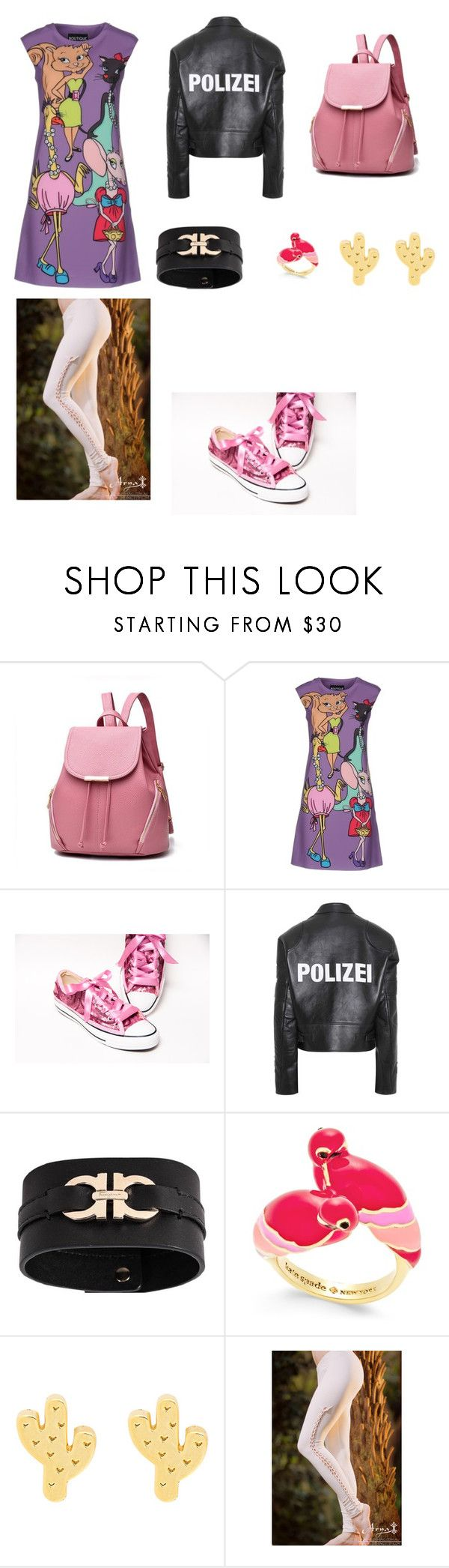 """на выход"" by orange1cat on Polyvore featuring мода, Boutique Moschino, Vetements, Salvatore Ferragamo и Kate Spade"