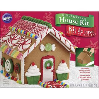 Wilton® Gingerbread House Kit: Pre-Baked House with Decorations