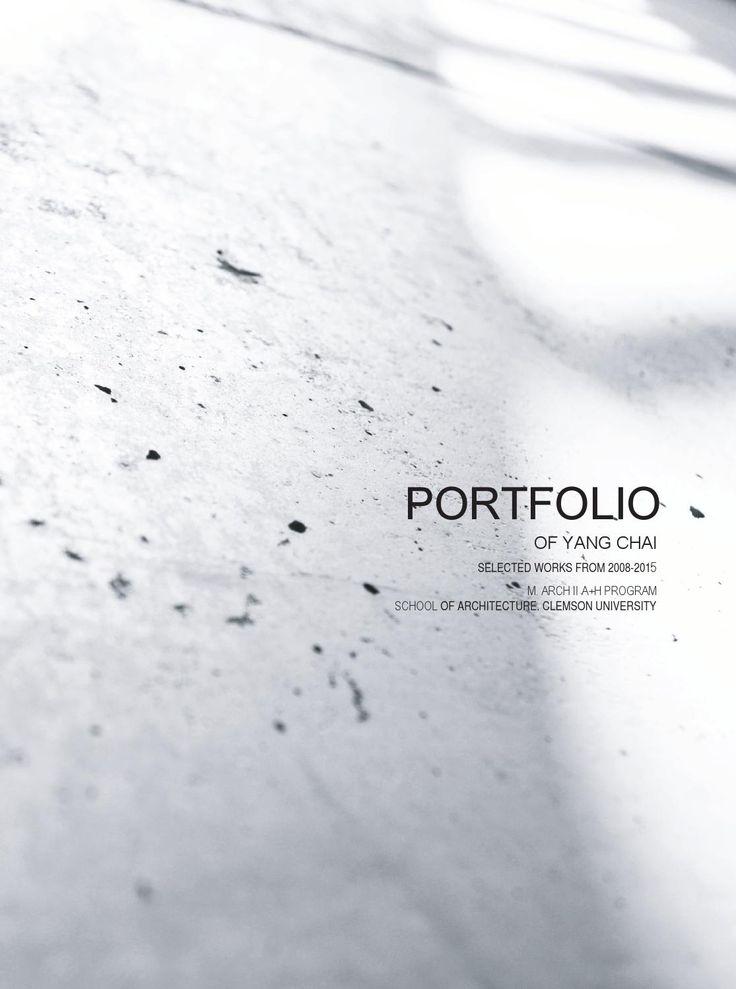 Portfolio-Yang Chai | Undergrad+Grad Works
