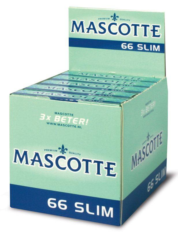 Foite Mascotte slim pentru rulat tutun. Un pachetel contine 66 buc, dimensiune slim. Comenzi: tuburipentrutigari.ro