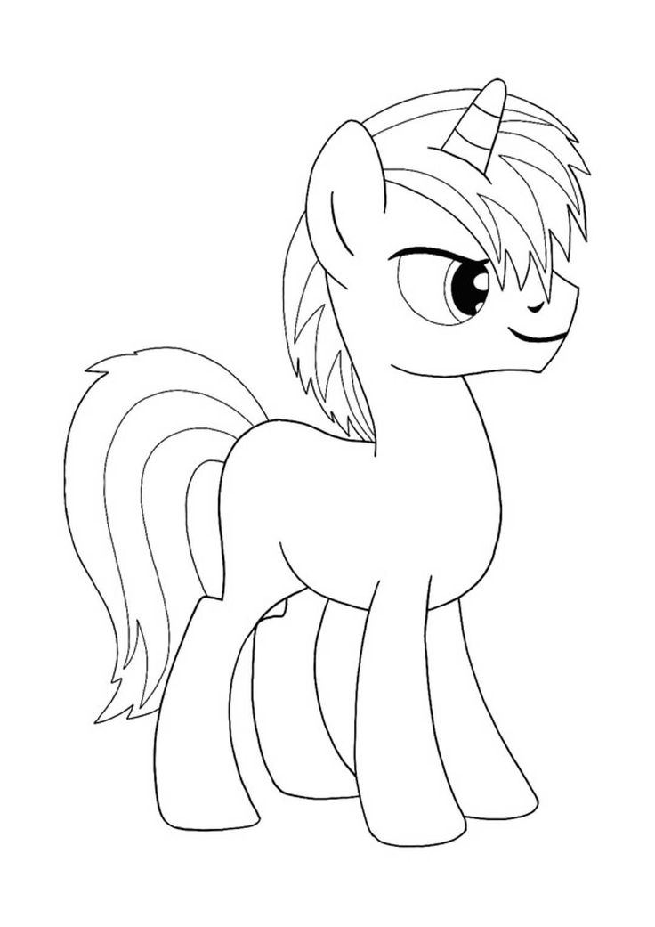 My Little Pony Unicorn Coloring Pages in 2020 | Unicorn ...