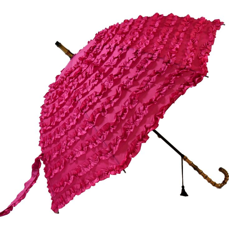 Blooming Brollies Boutique Fifi Frilly Stick Umbrella - Pink