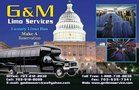 A Luxury transportation service at Affordable rates. G&M Limo Service. A 5 Star service at.. 703-212-2032 Charter Bus and Party Bus service for Metro area - Maryland, Virginia and Washington DC Airports and specializing in Wedding, Prom, Birthday, Anniversary, Wine Tour, Bachelor / Baccalaureate Party,
