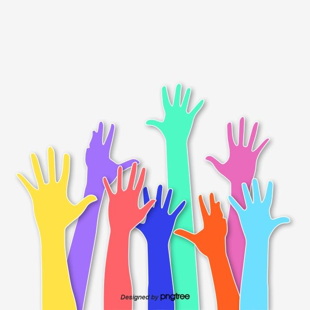 Creative Color Hands Up Hand Clipart Raise Hands Originality Png Transparent Clipart Image And Psd File For Free Download Creative Colour Clip Art Hand Clipart