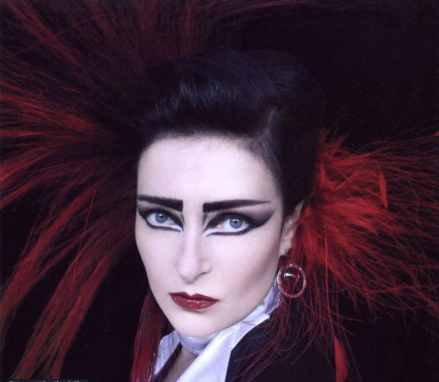 The 1980's Goth Makeup ~ Siouxsie Sioux Inspired Millions with Her Edgy, Dark Eye Makeup Straight, Bold Brows and Contoured Bridge ~ So Iconic ~ Loved by http://makeupartistrycairns.com.au
