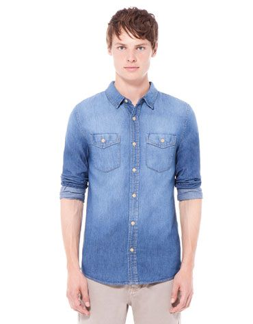 Bershka Italia - Camicia di jeans basic