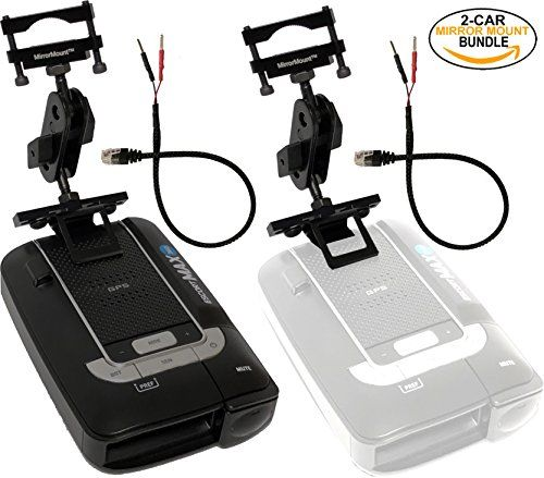 Escort Max 360 Radar Detector (Black) + 2 RadarMount MirrorMount Radar Detector Brackets + 2 RadarMount MirrorWire Power Cords (2-CAR BUNDLE). For product info go to:  https://www.caraccessoriesonlinemarket.com/escort-max-360-radar-detector-black-2-radarmount-mirrormount-radar-detector-brackets-2-radarmount-mirrorwire-power-cords-2-car-bundle/