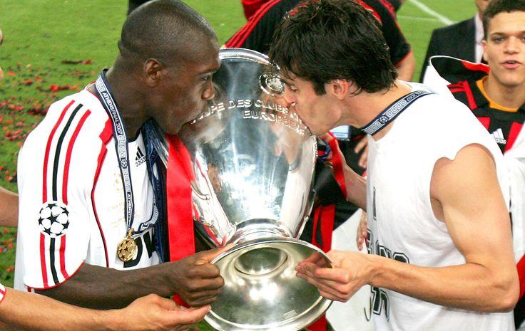 Em 2007, Seedorf e Kaká ajudaram o Milan a conquistar o título da Liga dos Campeões