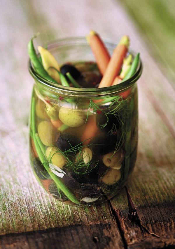 Recipe For Pickled Olives and Vegetables