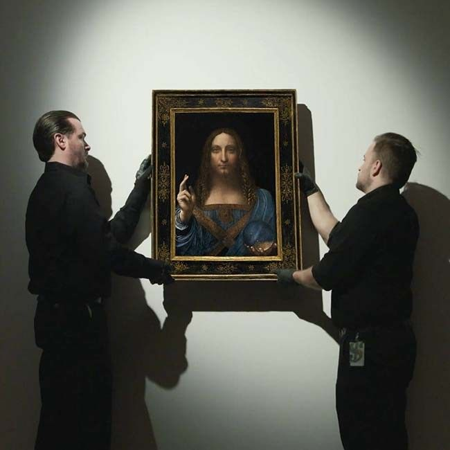 A 'lost' Leonardo Da Vinci painting sold for a record $450.3 million at a Christie's auction in New York City,