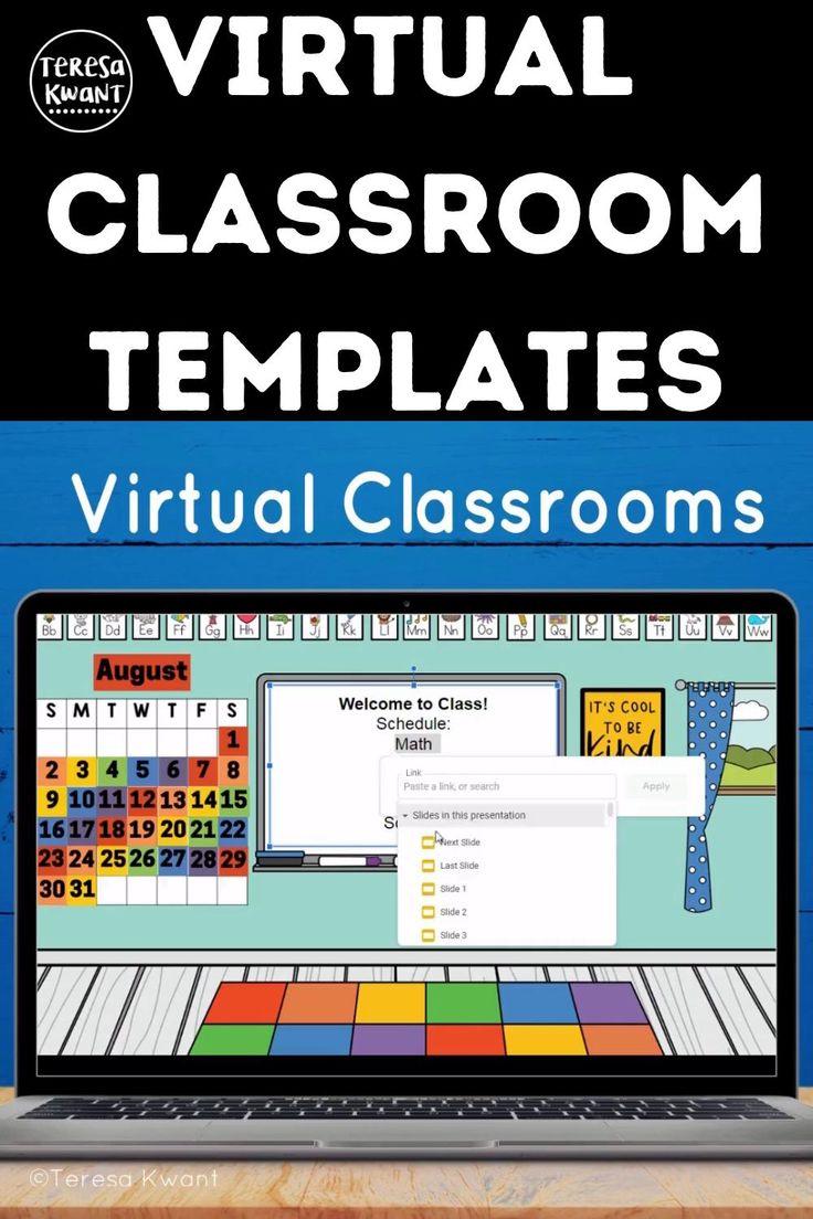 Virtual Classroom Google Slides & PowerPoint Background