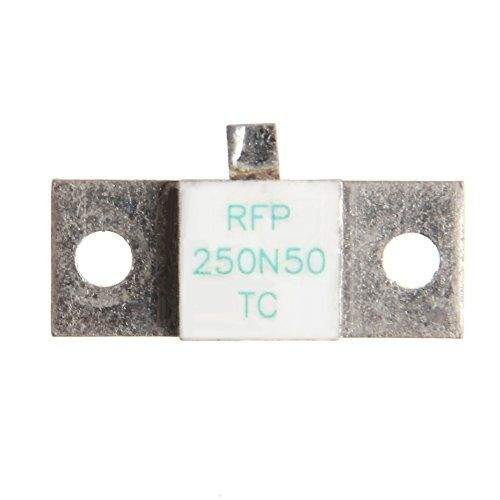 Load Resistors, Load Resistance RFP 250-50 250W 50 Ohm 250N50 TC RF Resistors  Material: Electrical components Size: 25 * 10 MM  Microstrip pin for the relatively fragile silver, must be careful welding, do not often activities to prevent fracture.  Please ensure that the resistance closely installed in the radiator on the plane, and join the thermal grease to help heat transfer.  Silver microstrip pin as much as possible with the input signal parallel.  Many type of metal film resisto...
