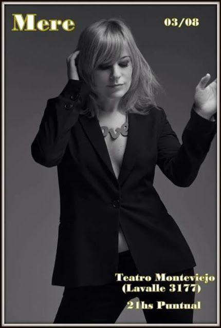 Marisa Mere se presentará en el Teatro MONTEVIEJO   La cantautora y bailarina de extensa carrera como coreuta de renombrados artistas y bandas como Fabiana Cantilo Manuel WritzVilma Palma e Vampiros con dos discos editados Ensueño (2003) y Tiempo de Volver (2014) se presentará en Teatro Monteviejo el jueves 3 de agosto a las 21 hs en Lavalle 3177. En este caso presentando su último material y algunas sorpresas siempre recorriendo el camino del pop rock y algo de country músic en su…