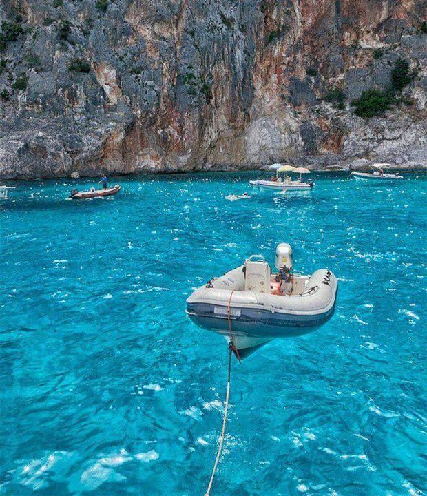 Transparent Crystal Clear Water at Cala Goloritze, Sardinia. WOWZA!