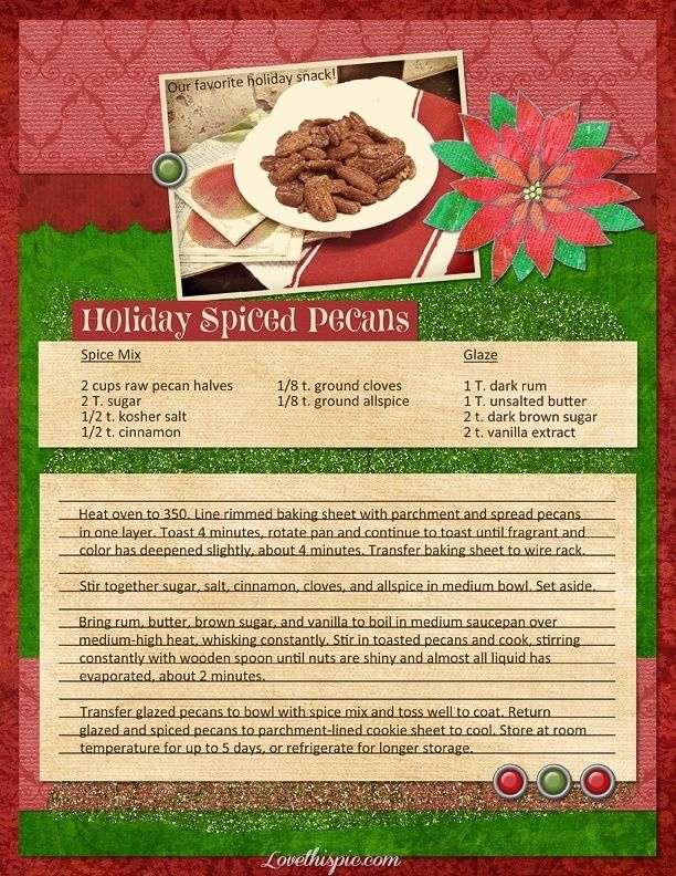 holiday spice pecan baking recipe recipes ingredients instructions easy recipes snacks adeserts christmas recipe christmas recipes