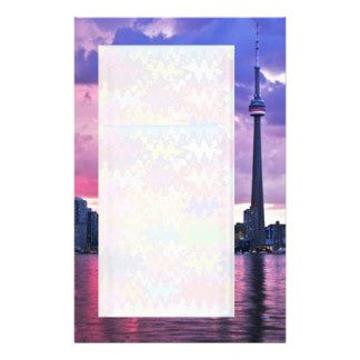 CN Tower : View from Center Island Toronto Stationery