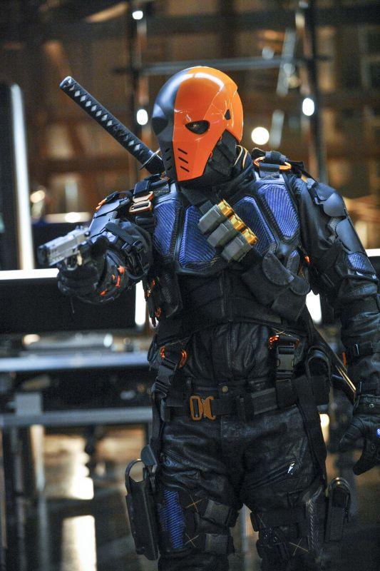 detail of Deathstroke costume