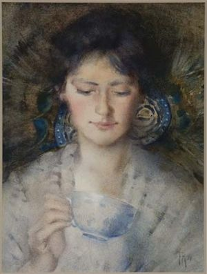 frances-hodgkins---a-fortune-teller-1896---field-collection-trust.jpg (300×397)
