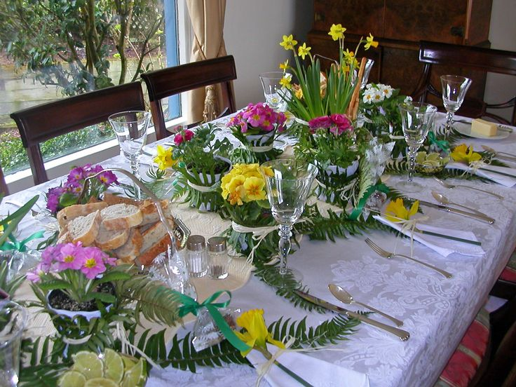 Spring luncheon table decoration party holiday ideas