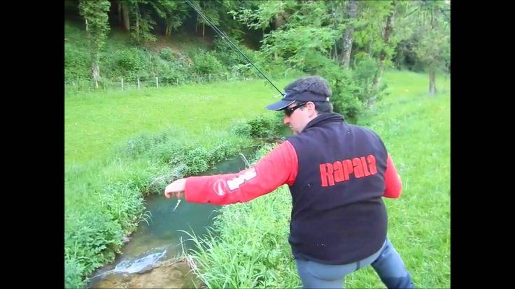 Peche de la truite au poisson nageur et leurre souple en HD