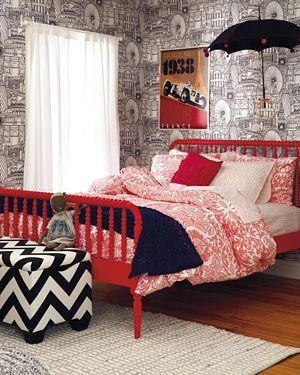 kidsu0027 beds kids red spindle jenny lind bed - Jenny Lind Bed