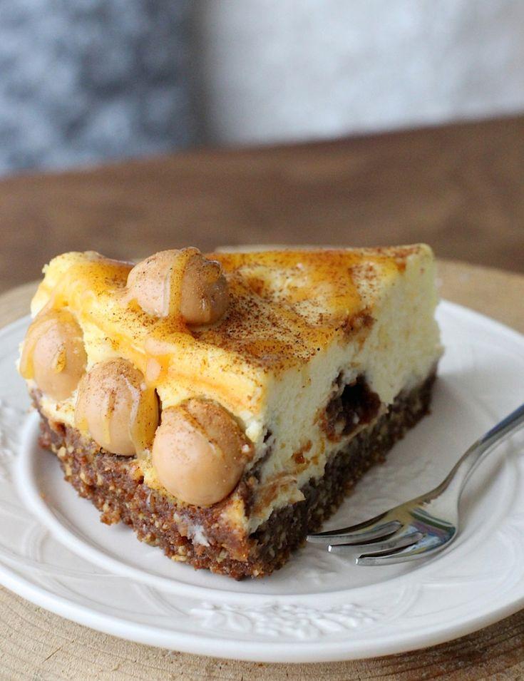 Salted caramel cheesecake met kruidnoten en speculaas // Francesca Kookt