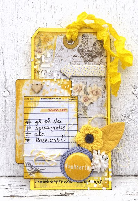 Easter tag made for Kreativ Scrapping