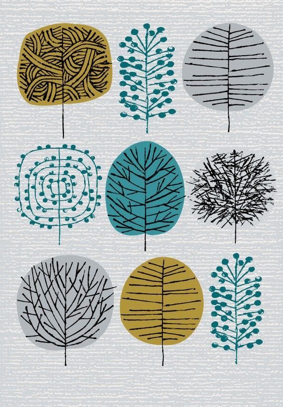 I Love Trees limited edition giclee print by EloiseRenouf on Etsy, $35.00