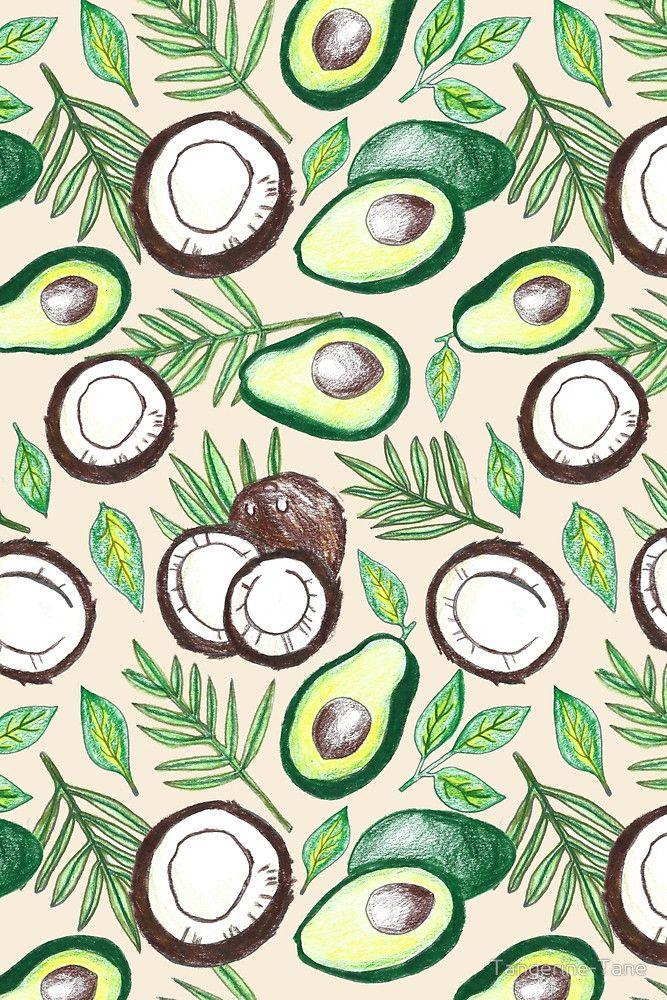 Coconuts Amp Avocados By Tangerine Tane Avocado Art Fruit