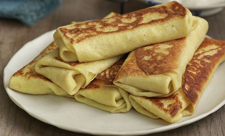 Cheese Blintzes | Golden brown and delicate, the blintzes from JBF America's Classics Award–winning restaurant Barney Greengrass are filled with lightly sweetened farmer cheese,
