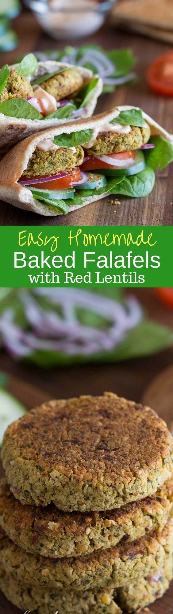 Blue apron falafel - Baked Falafels With Red Lentils A Hearty Healthy Meatless Grain And Bean Burger Seasoned