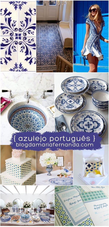 Decoração de Casamento : Paleta de Cores Azulejo Português    Wedding Inspiration Board Color Palette Portuguese Tile    http://blogdamariafernanda.com/decoracao-de-casamento-paleta-de-cores-azulejo-portugues
