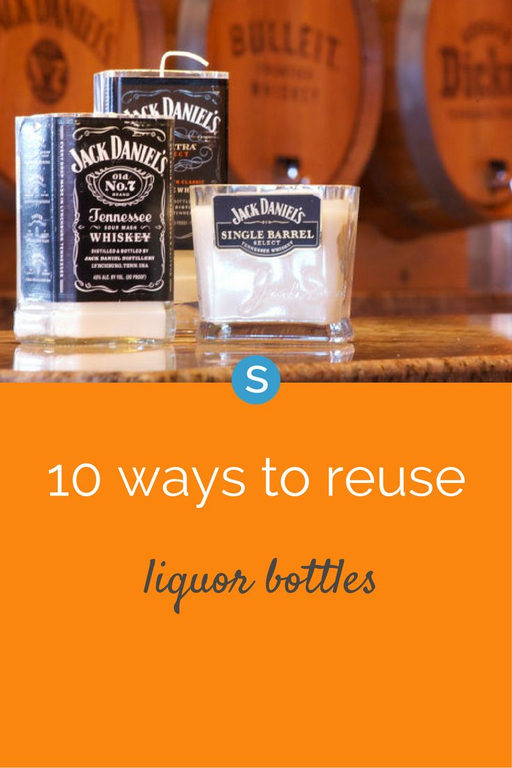 There are tons of ways that you can transform your old liquor bottles into everyday household decorations.