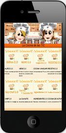 """App """"La CocinaTIC""""  todas nuestras secciones en tu móvil."""