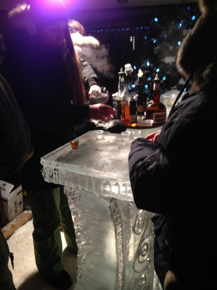 Bar made out of ice