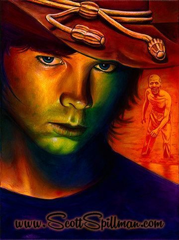 Carl Grimes from the Walking Dead. Painting by Scott Spillman.