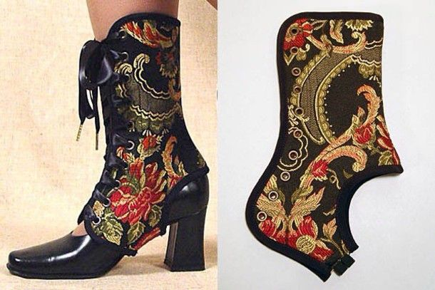 Shoes: shoe cover, lace up, cloth, fabric - Wheretoget