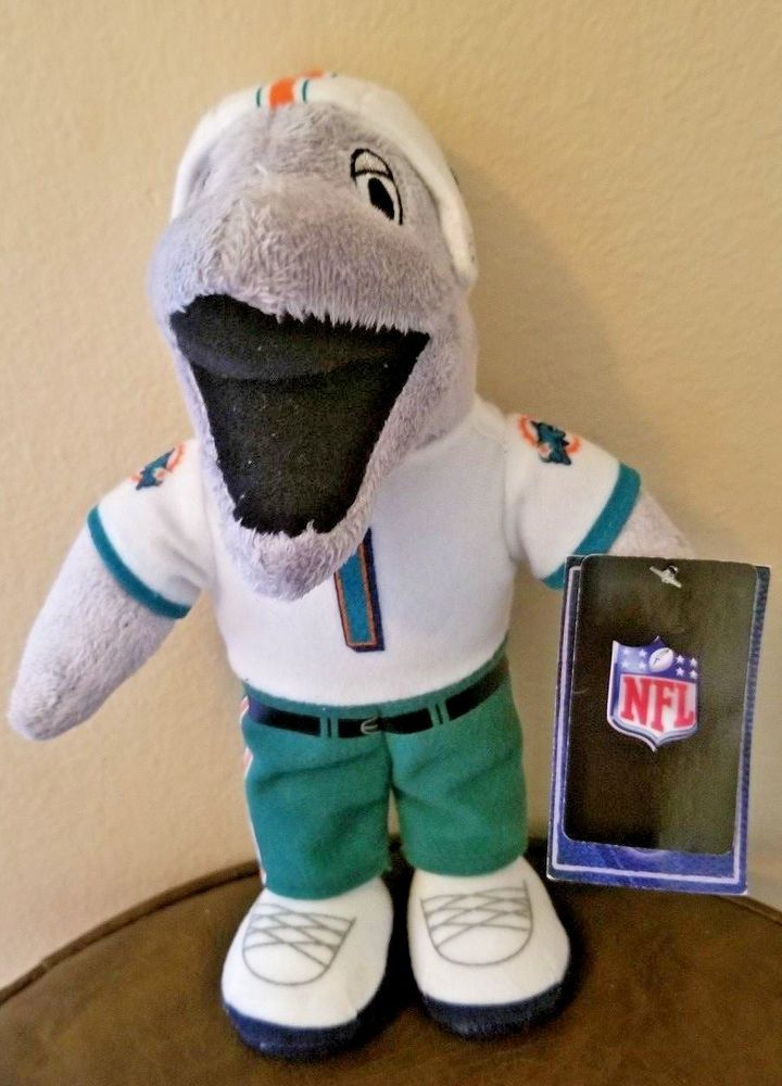 Miami Dolphins Nfl Small Plush Team Mascot Miami Dolphins Miami