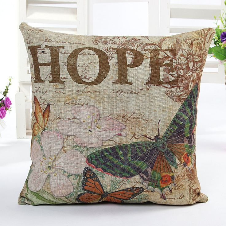 Gentil Amazon.com: 4TH Emotion Butterfly Retro Home Decor Design Throw Pillow  Cover Pillow Case