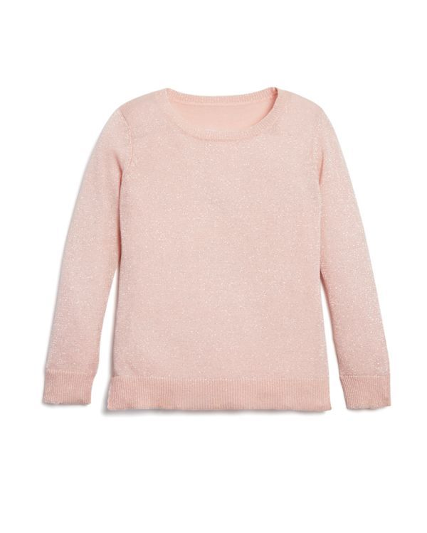 Bloomie's Girls' Long Sleeve Shimmer Sweater - Sizes 2-6X