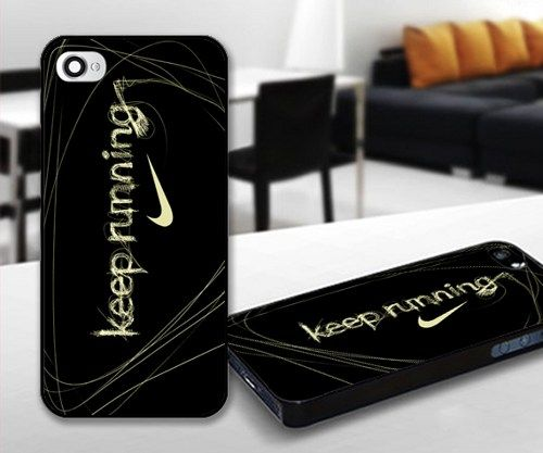 Nike Keep Running for iPhone 5 Black case | iPhoneCustomCase - Accessories on ArtFire