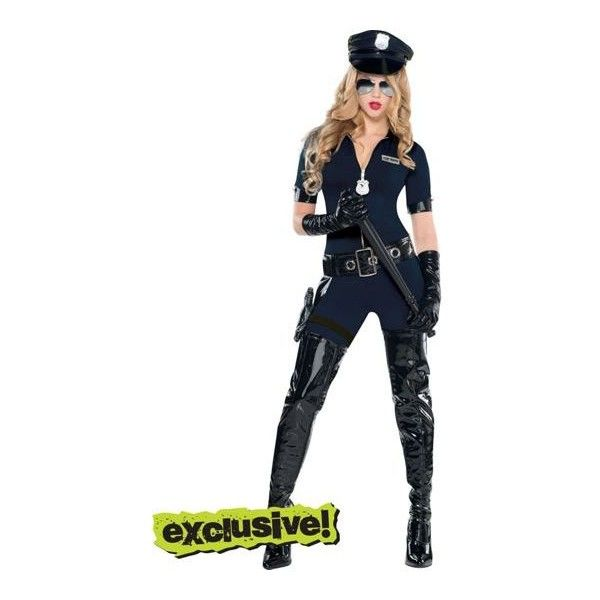 Stop Traffic Sexy Cop Costume for Women- Party City ($50) ❤ liked on Polyvore featuring costumes, costume, womens halloween costumes, womens police officer costume, sexy police officer costume, sexy cop halloween costume and cop halloween costume
