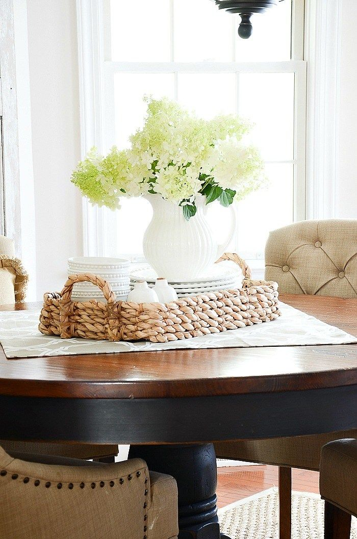How To Make A Small Space Live Large Stonegable Dining Room Table Centerpieces Kitchen Table Centerpiece Dining Room Table