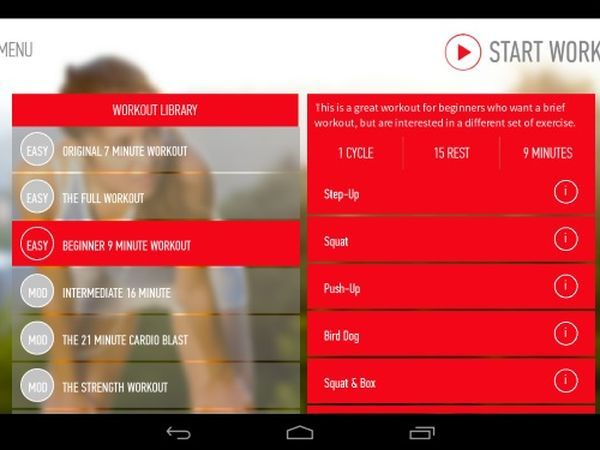 Johnson & Johnson Official 7 Minute Workout App (Free; Android, iOS)